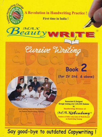 Max Beauty Write Book 2 By Max Academy (For IV Std. & above)